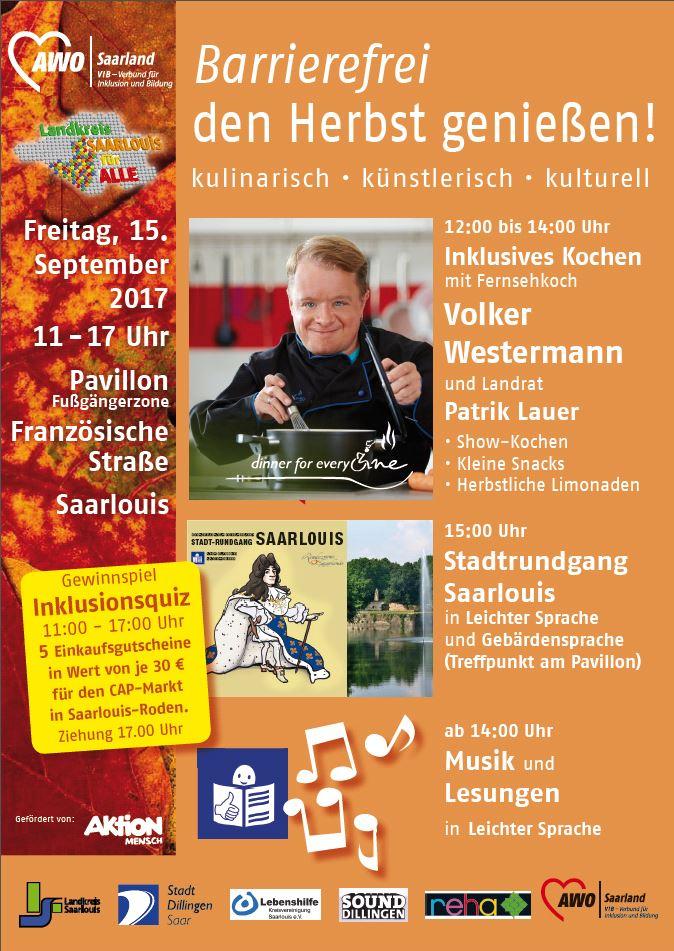 Plakat: Barrierefrei den Herbst genießen