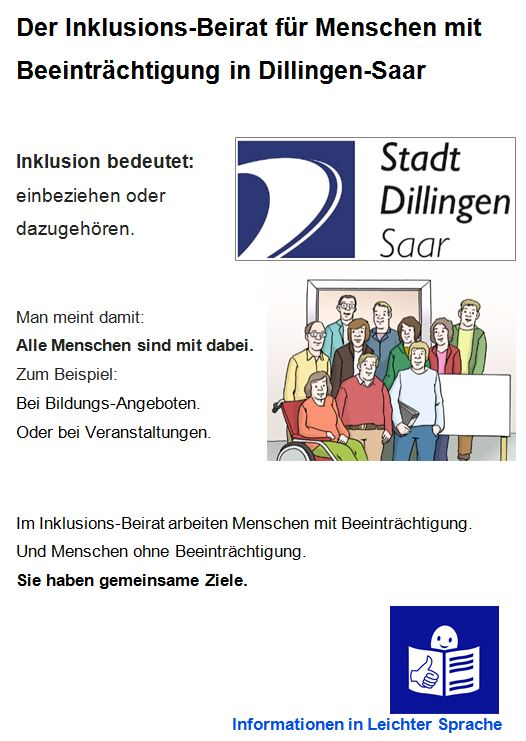 In Dillingen wird ein Inklusionsbeirat gegründet.